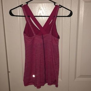 lululemon athletica Tops - Lululemon pink tank with built in sports bra